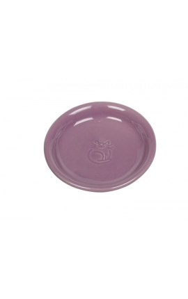 Nobby Ceramic Cat Milk Dish Purple