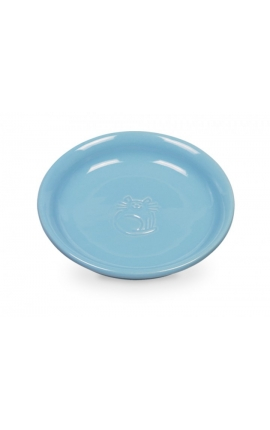 Nobby Ceramic Cat Milk Dish Light Blue
