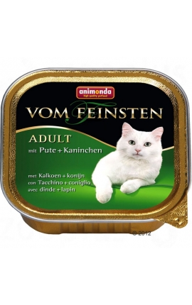 Vom Feinsten Ενήλικες Γάτες Γαλοπούλα & Κουνέλι 100 gr