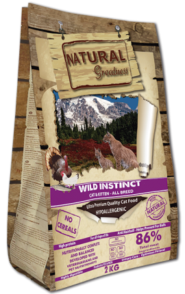 Natural Greatness Wild Instict Recipe Ultra Premium Cat & Kitten – All Breed 600gr