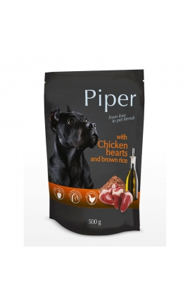 Piper Adult Chicken Hearts & Brown Rice 500gr