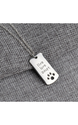 Pet Lovers Pet Rescue Paw Print Tag Jewelry