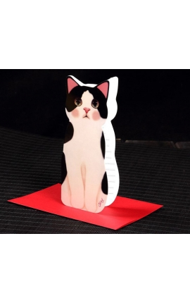 Cat Lovers Mini Cat Folding Greeting Card