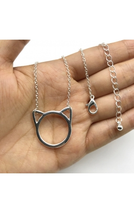 Cat Lovers Necklace Silver Minimalist Necklace