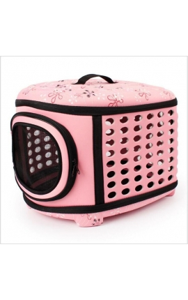Pet Foldable Handbag Carrier Pink