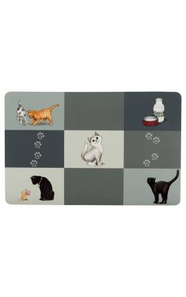Trixie Patchwork Cat Place Mat