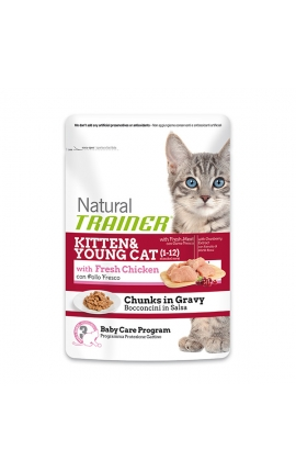 Trainer Natural Pouches Kitten & Young Cat 85 gr