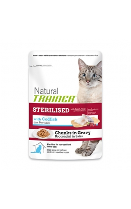 Trainer Natural Pouches Sterilised - Codfish 85 gr