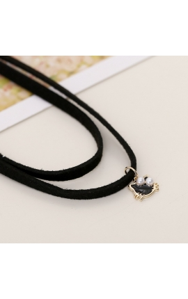 Cat Lovers Mini Pendant Short Necklace