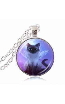 Cat Lovers Cute Fairy Necklace Pendant