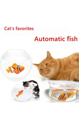 Cat Funny Toy Battery-Powered Fish-Water Robot