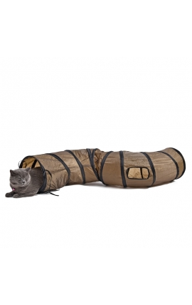 "Cat ""S"" Play Tunnel Brown Foldable"