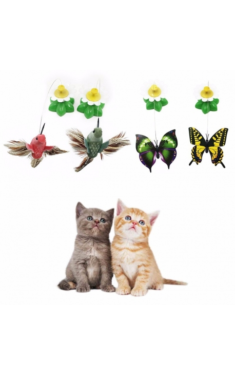 Cat Electric Rotating Colorful Toy
