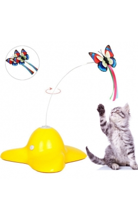 Cat Interactive Spinning Butterfly Toy