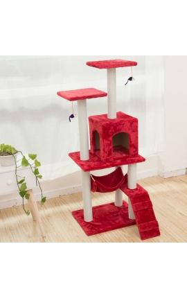 Ονυχοδρόμιο Γάτας 150cm Ύψος (Κόκκινο)