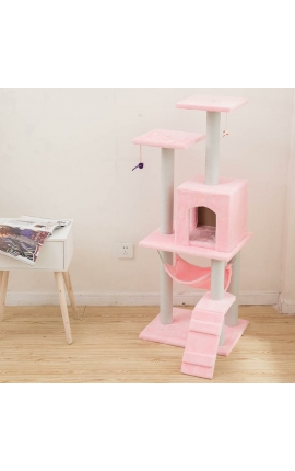 Ονυχοδρόμιο Γάτας 125cm Ύψος (Ροζ)