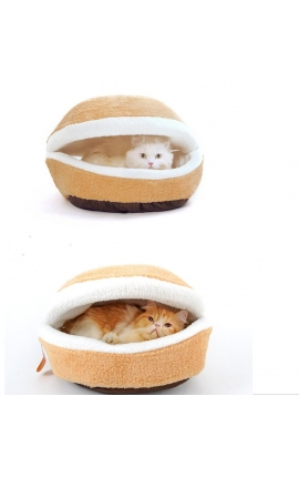 Cat Φωλιά-κρεβάτι γάτας ''Hambuger'' 2 σε 1