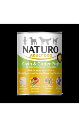 Naturo Dog, Grain Free Chicken, Sweet Potato, Green Beans, Herbs, 390gr Can