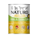 Naturo Dog, Grain Free Chicken, Sweet Potato, Green Beans, Herbs, 390gr Can