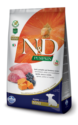 N&D Puppy Mini Lamb & Bluberry 2,5 kg