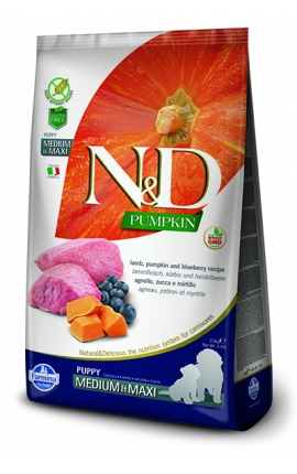 N&D Puppy Medium-Maxi Lamb & Bluberry 2,5 kg