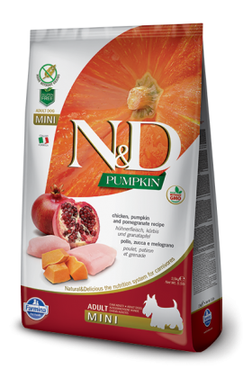 N&D Adult Mini Chicken & Pomegranate 2,5 kg