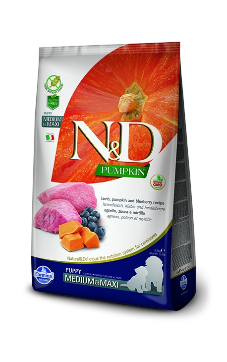 N&D Adult Medium-Maxi Lamb & Bluberry 2,5 kg