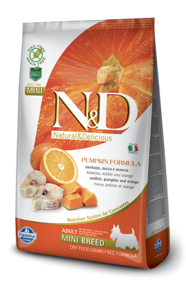 N&D Adult Mini Codfish & Orange 2,5 kg