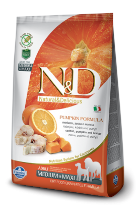 N&D Adult Medium-Maxi Codfish & Orange 2,5 kg
