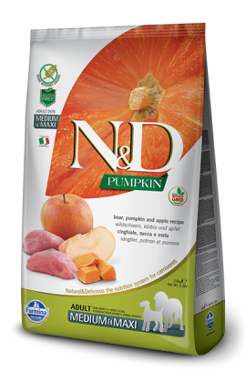 N&D Adult Medium-Maxi Boar & Apple 2,5 kg