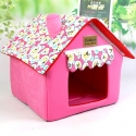 Pet House - Υφασμάτινο Σπιτάκι Ροζ