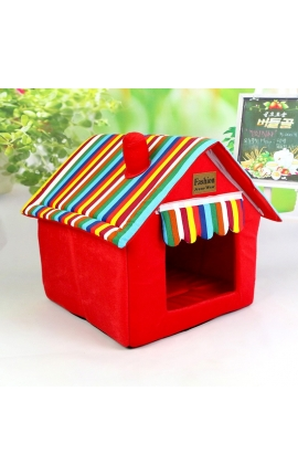 Pet House - Υφασμάτινο Σπιτάκι Κόκκινο