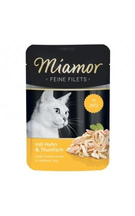 Miamor Feine Filets Jelly Κοτόπουλο & Τόνος