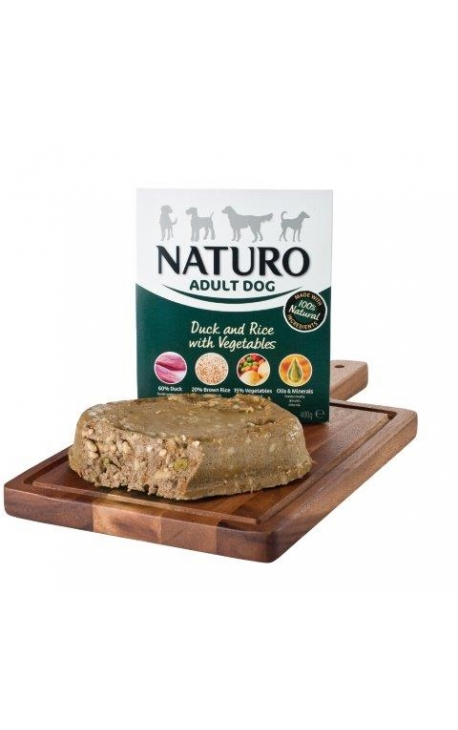 NATURO-DOG, Duck & Rice with Vegetables, Tray 400gr
