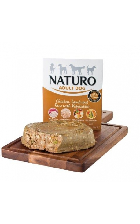NATURO-DOG, Chicken, Lamb & Rice with Vegetables, 400gr
