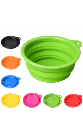 Pet Silicone Travel Feeding Bowl