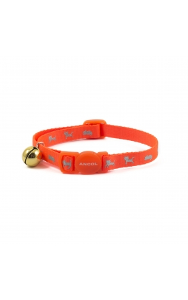 Ancol High VIS Cat Collar Orange