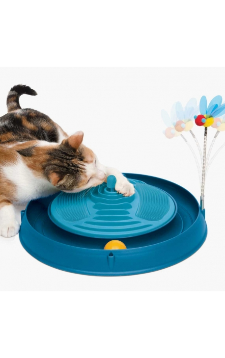 Catit Circuit Ball Toy with Catnip Massager