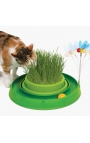 Catit Circuit Ball Toy with Grass Planter