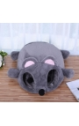 Cat Bed - Grey Mouse Shape