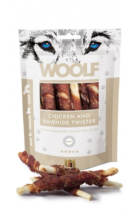 Woolf Chicken & Rawhide Twister 100 gr