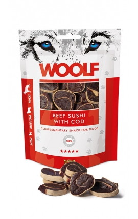 Woolf Beef Sushi with Cod