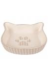 Flamingo Feeding Bowl Cat Mylo Ceramic Cat Face