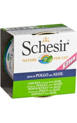 Schesir Soft Jelly Κοτόπουλο με Αλόη για Γατάκια