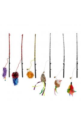 Flamingo Cat Fishing Rod Various