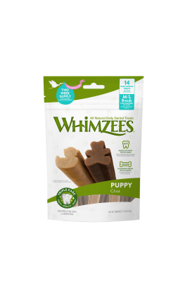 Whimzees Puppy Daily Dental Stix M-L