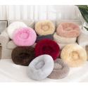 Pet Fluffy Long Plush Round Bed 50 cm