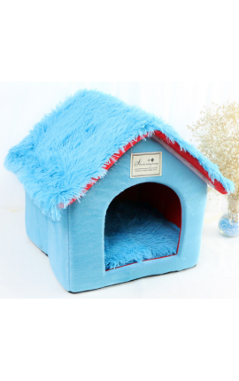 Pet Foldable House - Blue