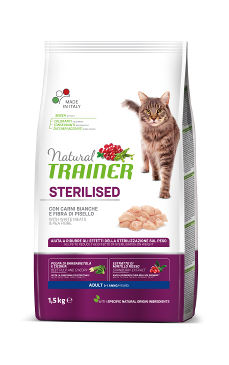 Natural Trainer ADULT STERILIZED White meats (Λευκά κρέατα)
