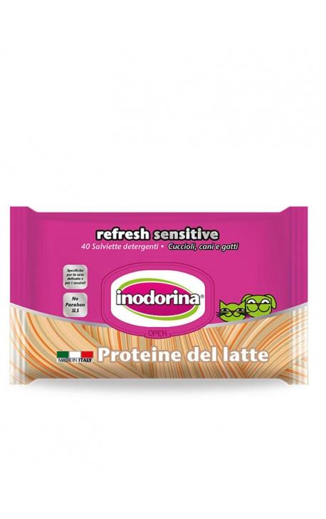 Inodorina Refresh Sensitive Cleansing Wipes Milk Protein